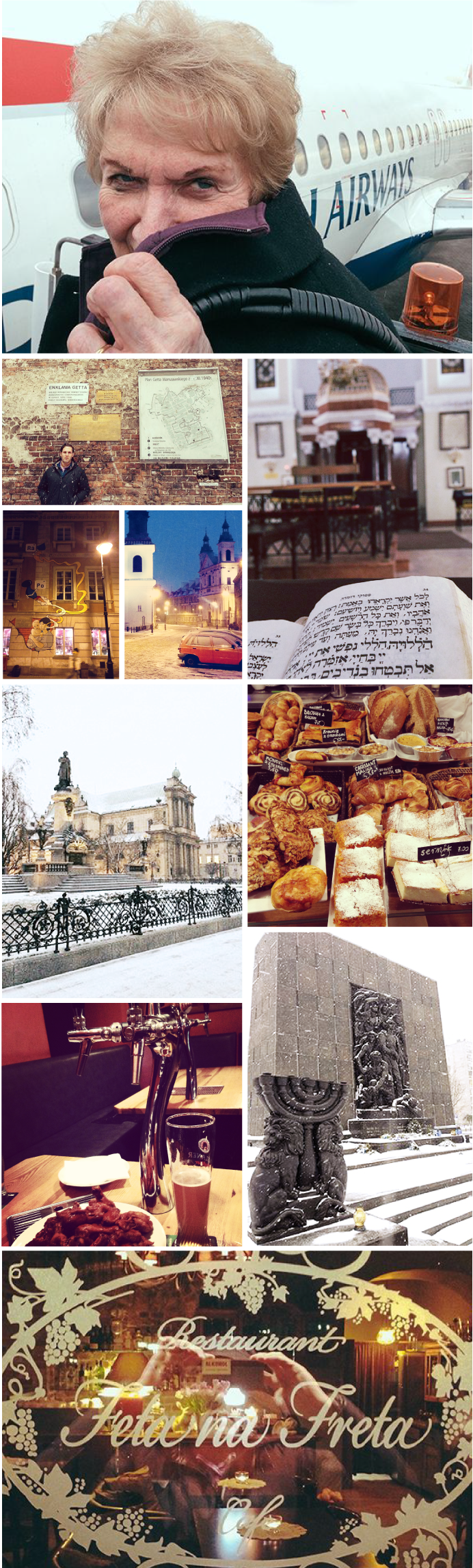 Wanderlust Warsaw Collage